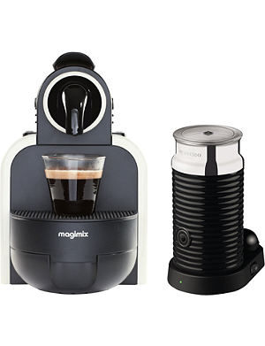 NESPRESSO Magimix Essenza espresso coffee machine with Aeroccino