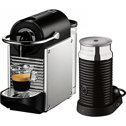NESPRESSO Magimix Nespresso Pixie coffee machine with Aeroccino aluminium (Electric+aluminium