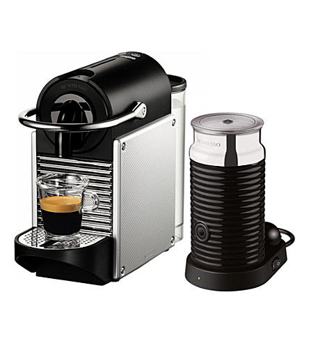 NESPRESSO Magimix Nespresso Pixie coffee machine with Aeroccino aluminium (Electric+aluminium