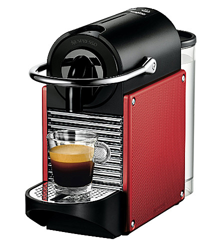 NESPRESSO Magimix Pixie Carmine coffee machine with Aeroccino