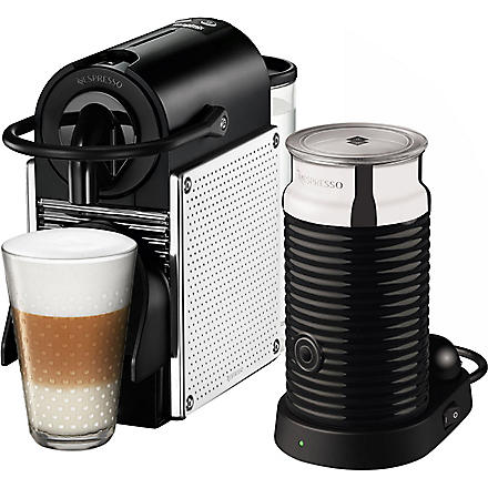 NESPRESSO Magimix Nespresso Pixie coffee machine with Aeroccino chrome