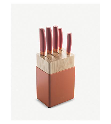 ZWILLING J.A HENCKELS Granada titanium knife set