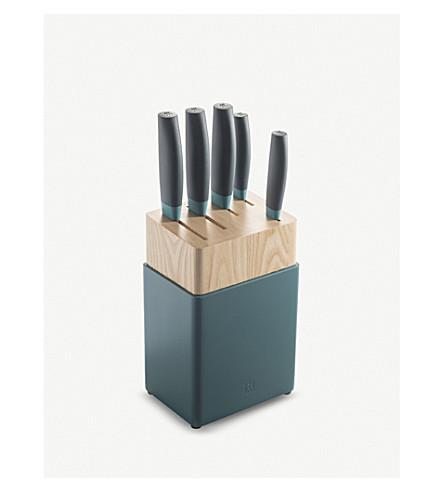 ZWILLING J.A HENCKELS Blueberry titanium knife set