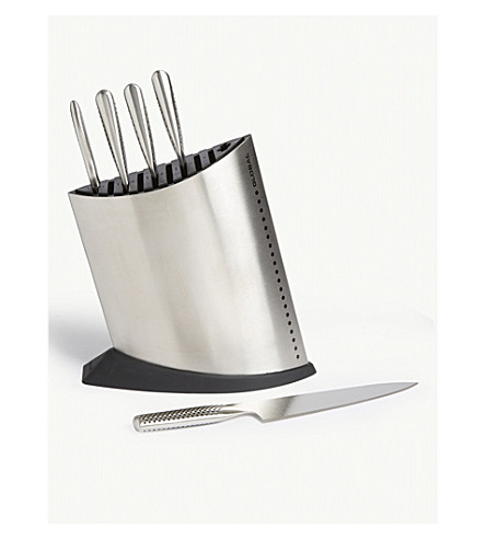 GLOBAL Ship Shape six-piece knife block set
