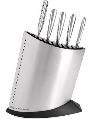 GLOBAL Ship Shape five-piece knife block set