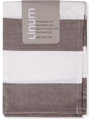 LINUM Ravioli striped tea towel
