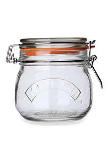 KILNER Round cliptop jar 0.5L