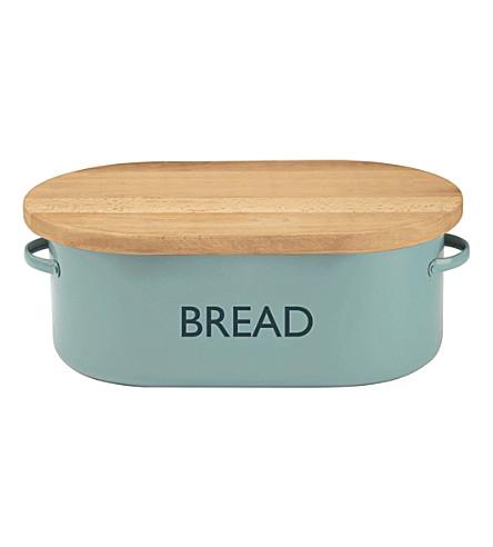 TYPHOON Vintage Kitchen Summer House blue bread bin