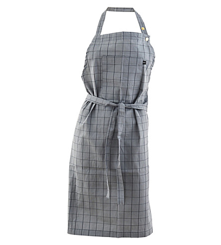 NICOLAS VAHE Checked cotton apron