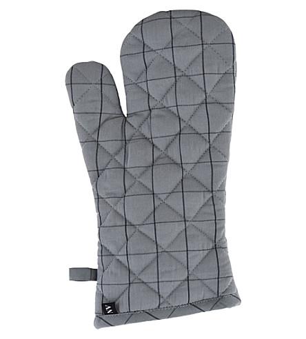 NICOLAS VAHE Checked cotton oven gloves