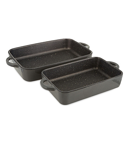 NICOLAS VAHE Ceramic non-stick oven trays set of two