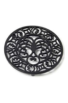 VICTOR Octopus and fish trivet black