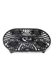 VICTOR Sun and Flower trivet black
