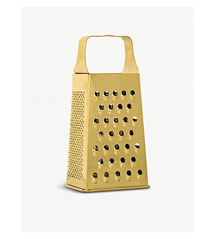 BLOOMINGVILLE Gold-toned stainless steel grater