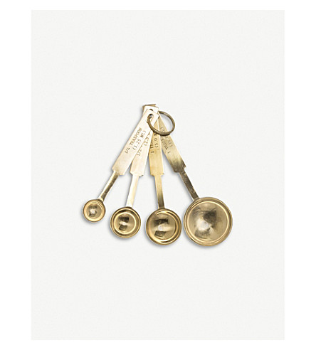 BLOOMINGVILLE Gold-toned stainless steel measuring spoons set of 4
