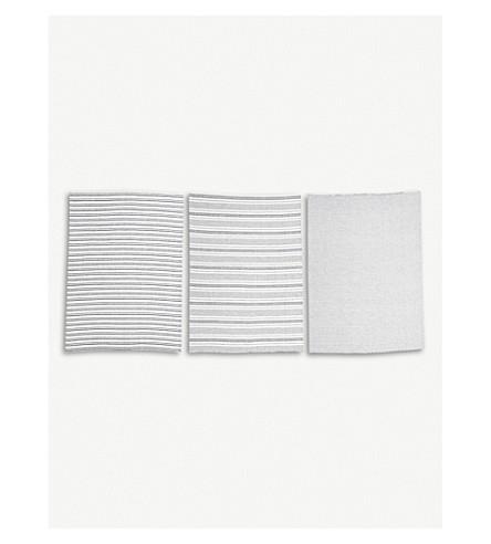 BLOOMINGVILLE Cotton kitchen towel set of three