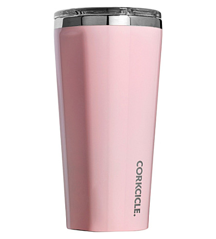 ROOT 7 Corkcicle 16oz tumbler (Rose+quartz