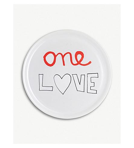 BITOSSI HOME One Love ceramic pizza plate