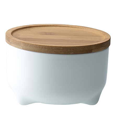 LOVERAMICS Tripod medium porcelain storage jar