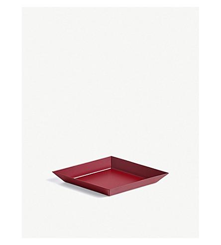 HAY Kaleido extra small steel tray 19x11cm