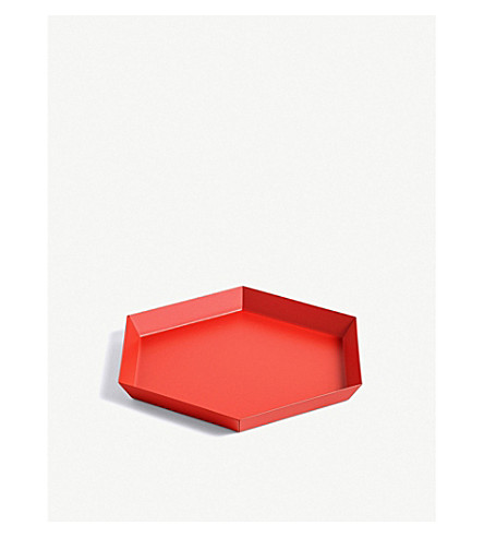 HAY Kaleido small steel tray 22x19cm