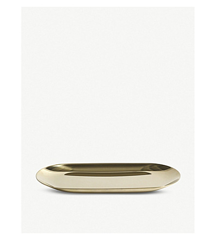HAY Gold-toned stainless steel tray 18cm
