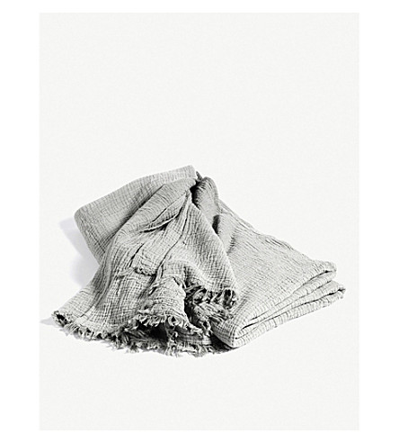 HAY Crickled cotton plaid throw (270cmx270cm)