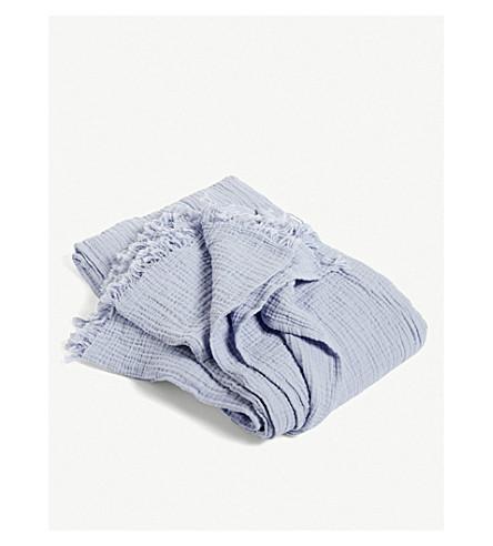 HAY Crinkle plaid cotton bedspread