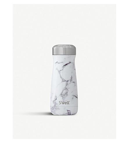 SWELL White marble traveller bottle 450ml (White+marble