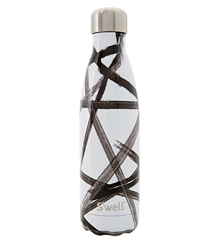 SWELL Black ribbon stainless steel water bottle 500ml