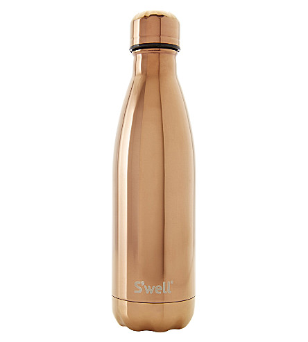SWELL Rose Gold-finish stainless steel water bottle 500ml