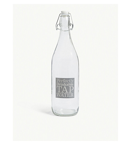 GARDEN TRADING Perfectly drinkable tap water glass bottle 1l