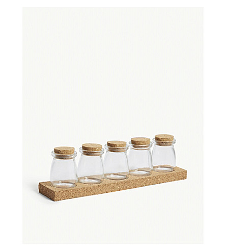 GARDEN TRADING Five jar cork spice rack