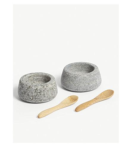 GARDEN TRADING Granite salt and pepper pots