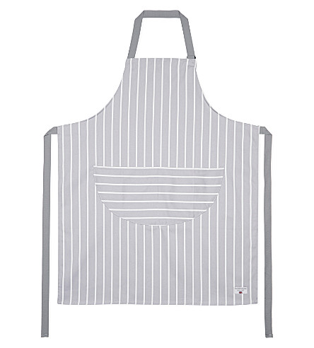 CHEF'N Grey butchers stripe adult apron
