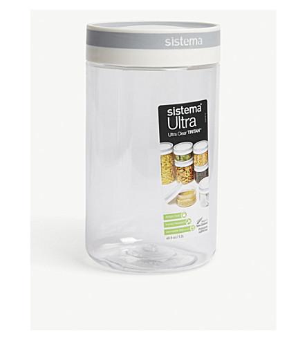 SISTEMA Ultra Tritan clear round container 1.2l