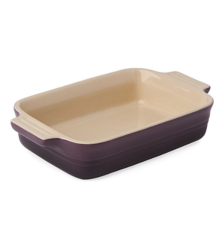 LE CREUSET Stoneware rectangular dish 19cm (Cassis