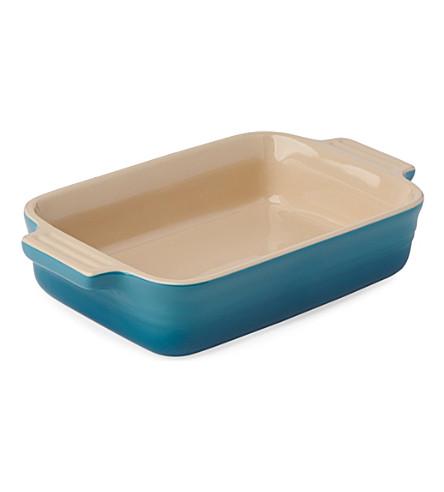 LE CREUSET Stoneware rectangular dish 19cm (Teal