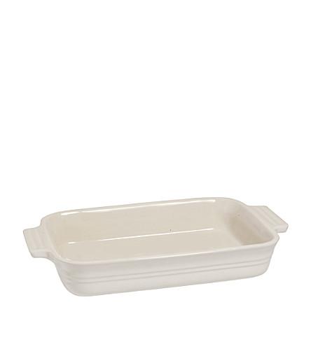 LE CREUSET Stoneware rectangular dish 26cm (Almond