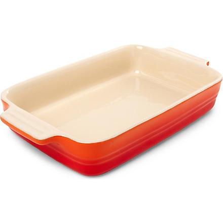 LE CREUSET Stoneware rectangular dish 26cm (Volcanic