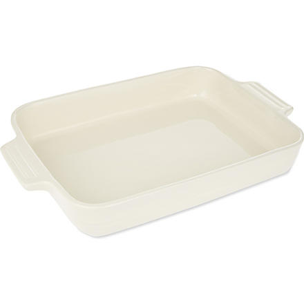 LE CREUSET Stoneware rectangular dish 32cm (Almond