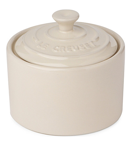 LE CREUSET Stoneware sugar bowl (Almond