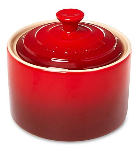 LE CREUSET Stoneware sugar bowl (Cerise