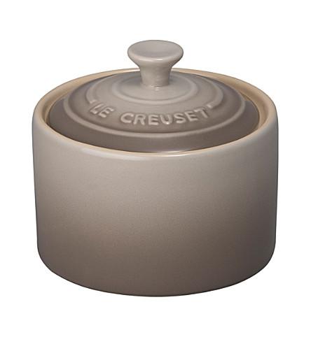LE CREUSET Stoneware sugar bowl (Nutmeg