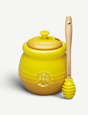 LE CREUSET Stoneware honey jar dijon