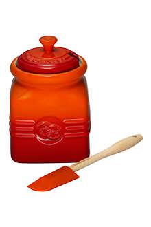 LE CREUSET Stoneware jam jar volcanic
