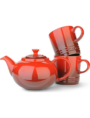 LE CREUSET Tea For Two three-piece stoneware set