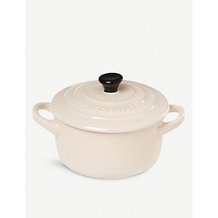 LE CREUSET Stoneware petite casserole dish (Almond
