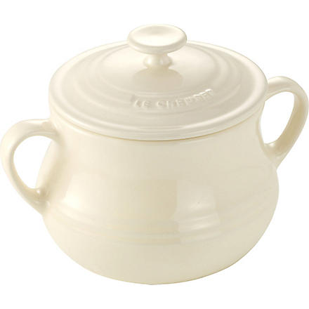 LE CREUSET Stoneware pair of bean pots (Almond