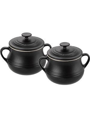 LE CREUSET Stoneware pair of bean pots